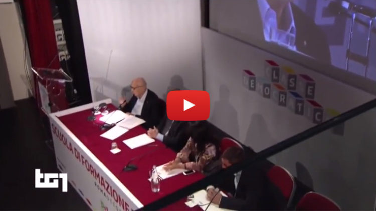 Demo 2016 dichiarazione Onorevole Luca Lotti al TG1